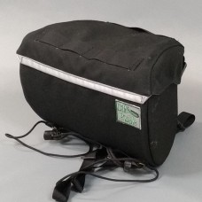 In Stock - Handlebar Bag, all black with lid straps
