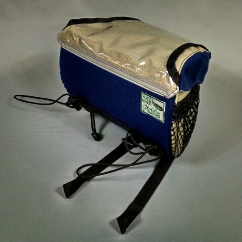 In Stock - Handlebar Bag, Navy and Sand