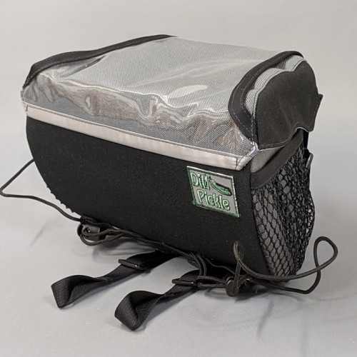 In Stock - Handlebar Bag, Black and Gray