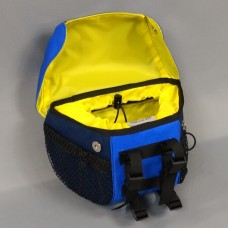 In Stock - Handlebar Bag, Navy and Super Blue with Yellow lining