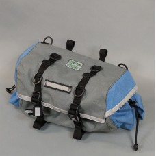 Large Saddlebag, Gray and Stormy Blue