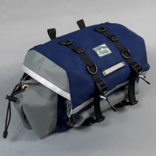 Large Saddlebag, Navy and Gray