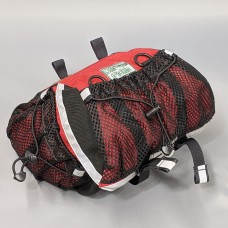In Stock - Medium Saddlebag, Red and Black with Mesh Pockets
