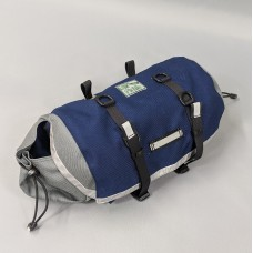 Medium-plus Saddlebag, Navy and Gray, full-width