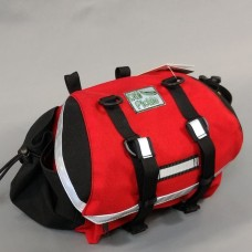 In Stock - Medium Saddlebag, Red and Black