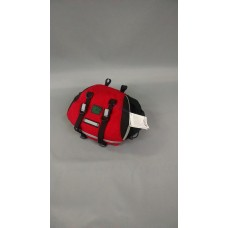 Medium Saddlebag, Red and Black