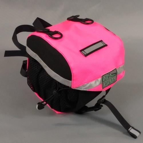 Small Saddlebag, Black and Neon Pink