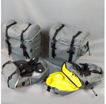 Large and small matching panniers