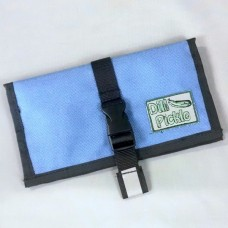 Wallet in Stormy Blue with Silver Gray Interior