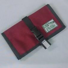 Wallet in Wine with Super Blue and silver gray interior
