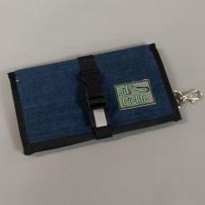 Wallet in Cotton Denim with cotton denim and yellow waterproof interior
