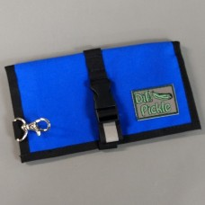 Wallet in Super Blue with Black and Yellow interior