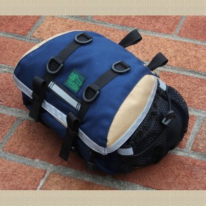 Medium Saddlebag in Navy and Tan