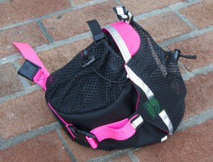 Small Saddlebag in Black and Neon Pink
