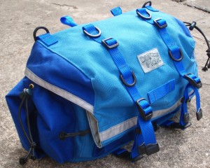 Large Saddlebag in Electric Blue and Royal Blue