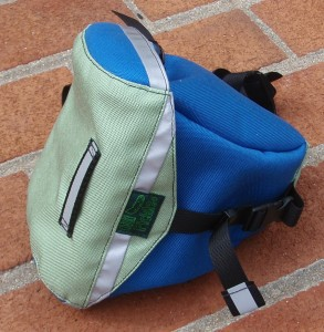 Small Saddlebag in Electric Blue and Celery