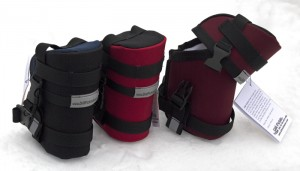 Tool Canisters in Black and Navy, Red and Black, and Wine and Black with White Lining