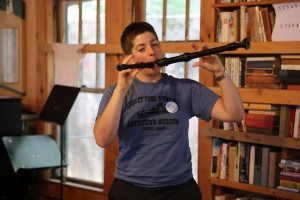 playing two recorders