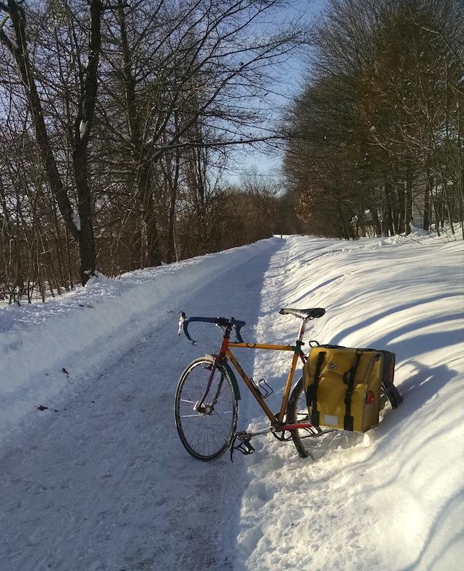 Neatly plowed Minuteman Bikeway