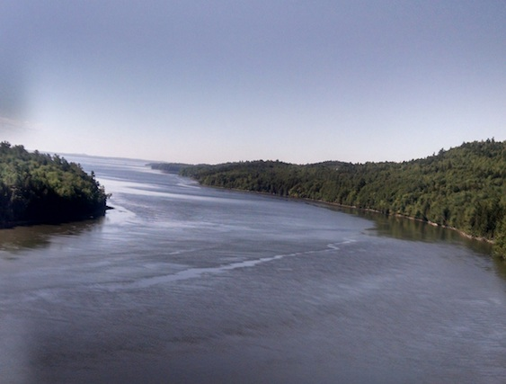 Penobscot Narrows, as seen from the bridge
