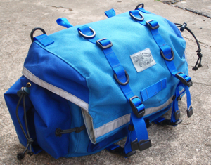 Rando Saddlebag in Blue on Blue