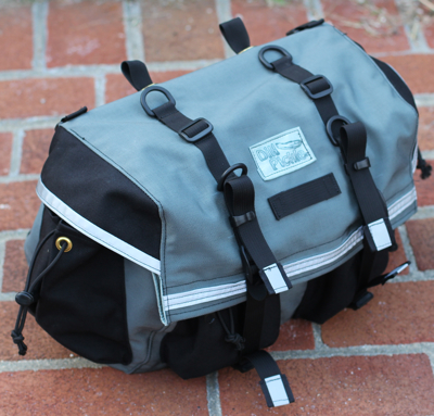 Rando Saddlebag in Black on Gray